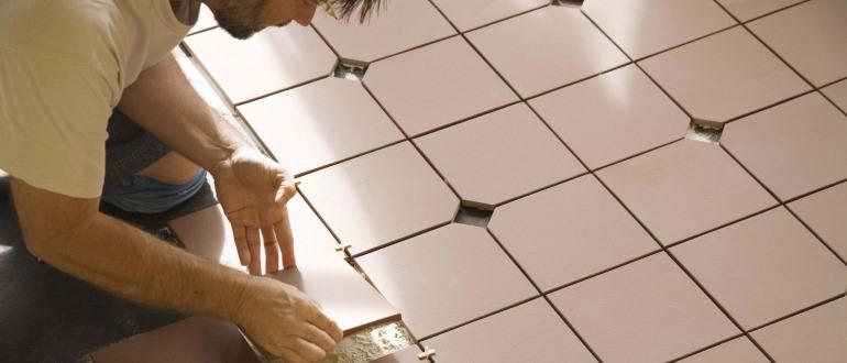 как уложить напольную плитку своими руками