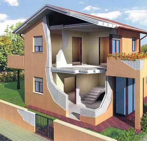 3D-модель монолитного дома