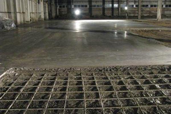 Армирование стяжки проволочной сеткой
