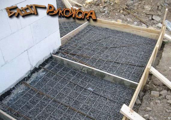 армируем бетонную отмостку
