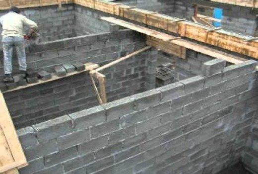 Армопояс для стены из шлакоблоков