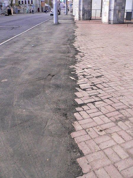 асфальт или тротуарная плитка