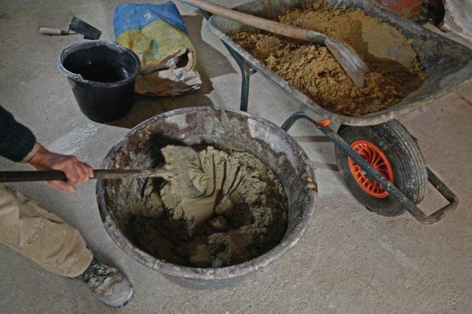 бетон из цемента и отсева