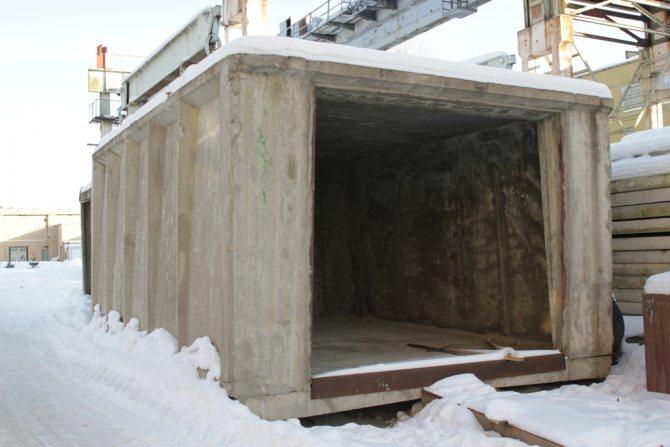 бетонный гараж ширина 3900мм