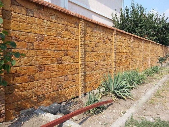 бетонный забор секционный