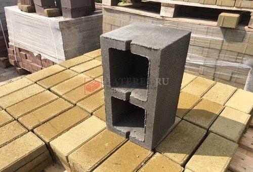 Блок 200×200×400 М100 двухщелевой