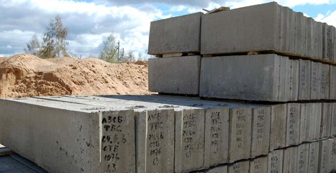 Блоки для фундамента характеризуются высокой стойкостью к воздействию влаги