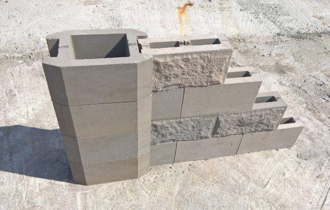 Блоки из бетона для забора