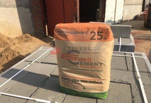 Цемент 25 кг Д0 EuroCem 500 Super ЦЕМ I 42.5 H EuroCement