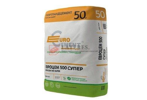 Цемент 50 кг Д0 EuroCem 500 Super ЦЕМ I 42.5 H EuroCement