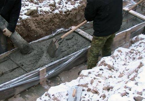Чем укрыть бетон после заливки в мороз