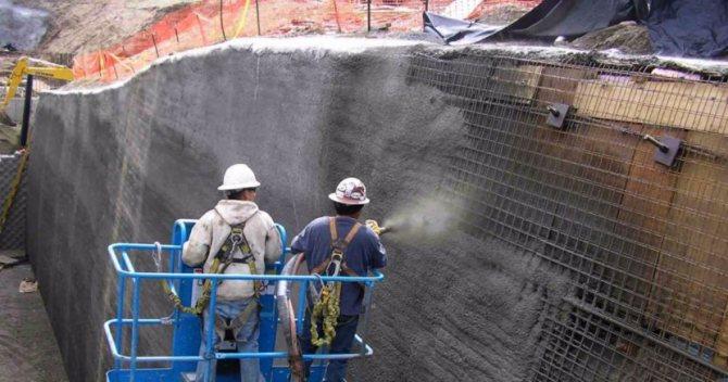 Что такое торкретирование бетона?