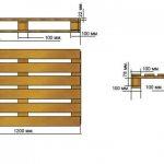 деревянный поддон для кирпича