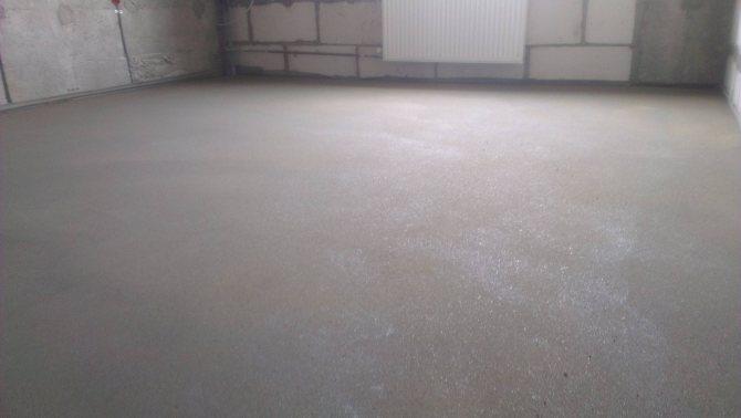 Добротный бетонный пол