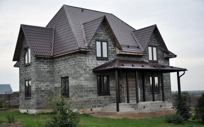 дом из шлакоблока