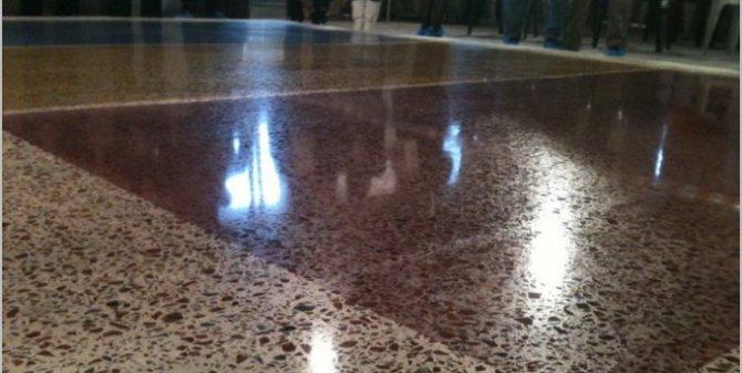 Достоинства полированного бетона