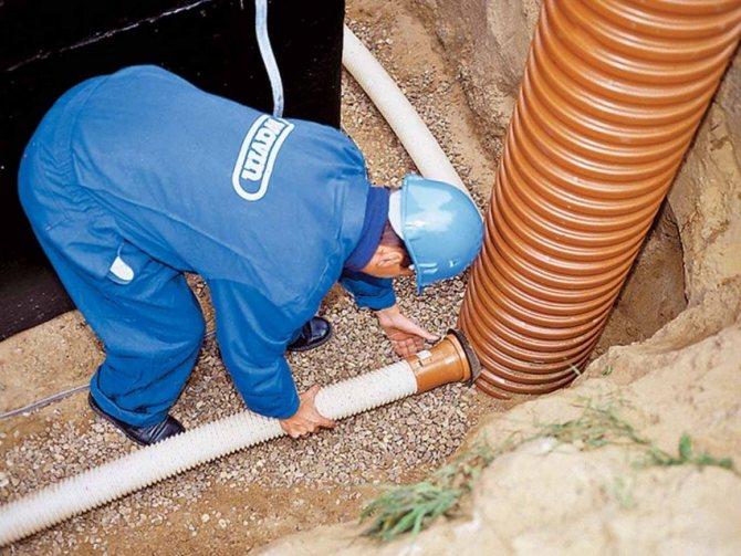 Дренаж вокруг дома позволяет замедлить процесс разрушения фундамента из-за воздействия грунтовых вод