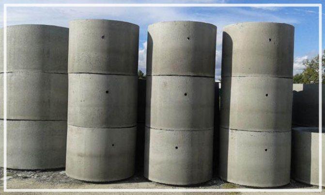 дренажный колодец из бетонных колец