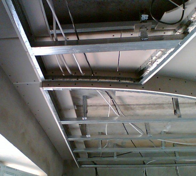 Фигурный кессонный потолок