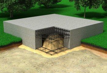 фундамент лента с плитой
