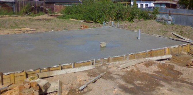 фундамент плита или ленточный