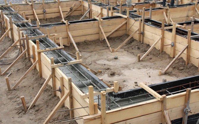 Фундаменте для дома из газобетонных блоков