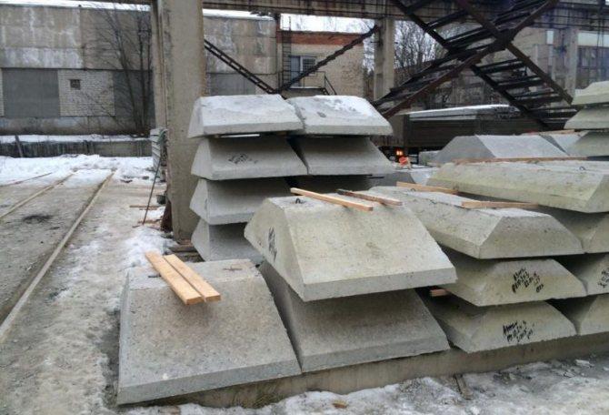 Фундаментные подушки ФЛ — размеры по ГОСТ 13580-85