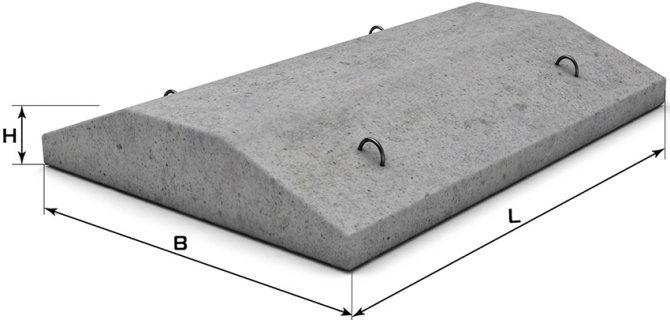 Фундаментные подушки могут иметь разные показатели ширины, длины и высоты