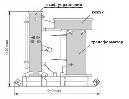 Габаритная схема КТПТО-80