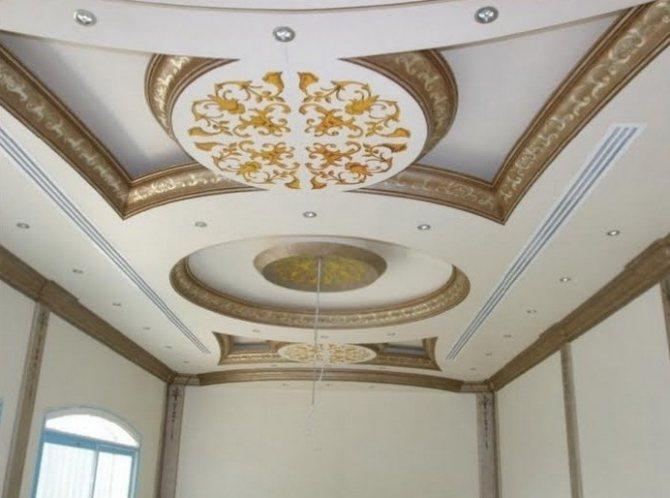 Гипсокартонные кессоны потолка