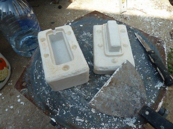 Гипсовая оснастка для отливки алюминиевой формочки