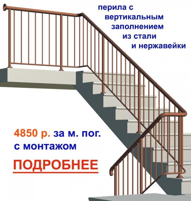 Готовые перила, секции, лестничные ограждения из стали с вертикальным заполнением система ограждений в сборе