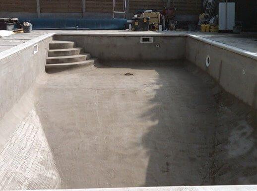 Изготовление бассейна из бетона