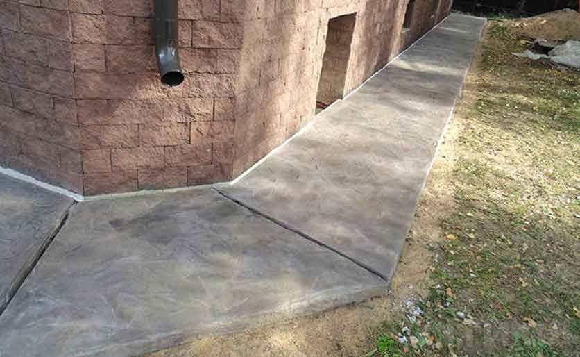 Изготовление бетонной отмостки