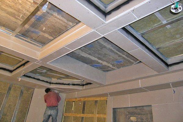 Изготовление кессонного потолка