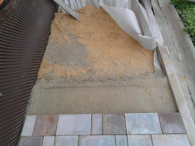 Изготовление отмостки с тротуарной плиткой
