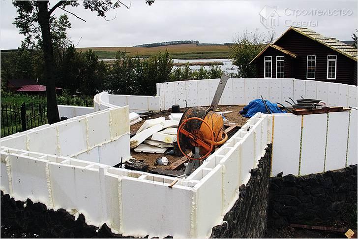 Как построить дом из пенополистирола