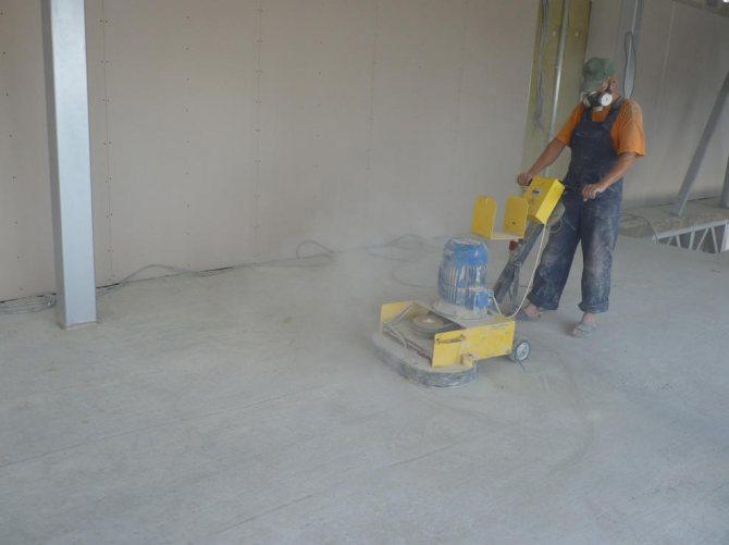 Как правило, к полировке бетона следует приступать только тогда, когда полностью завершены все шлифовальные работы