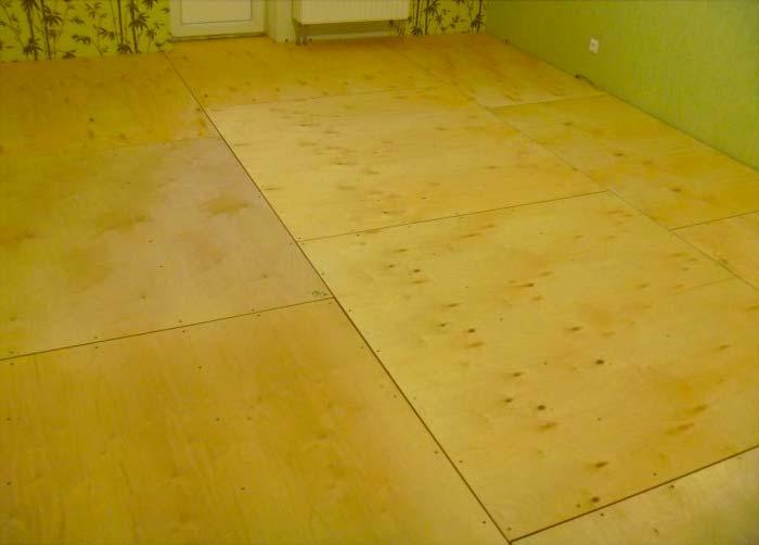 Как выровнять деревянный пол фанерой под линолеум
