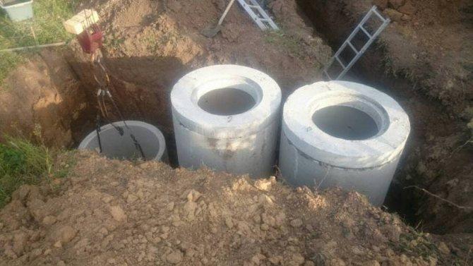 канализация из колец