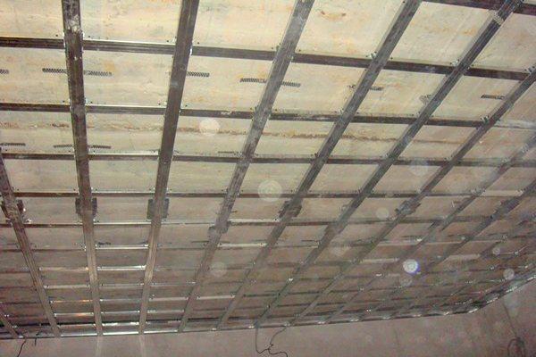 Каркас кессонного потолка