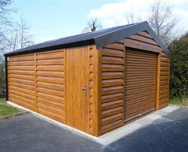 Каркасный гараж из дерева