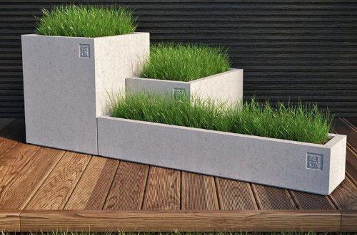 Кашпо из бетона