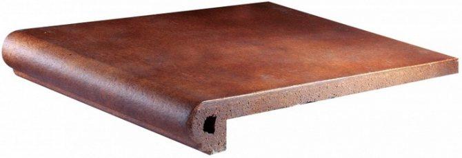 Керамическая шероховатая плитка для проступей