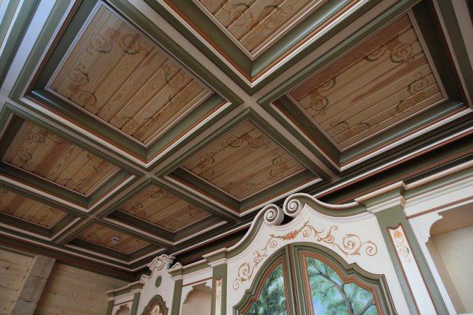 Кессонный потолок простой формы