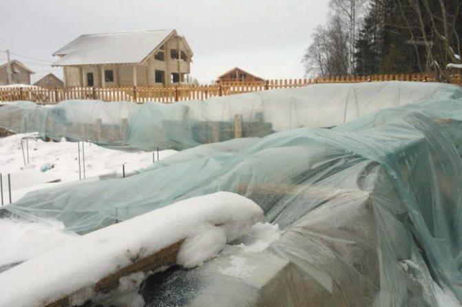Консервация фундамента к зиме
