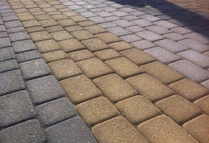 красиво постеленная тротуарная плитки
