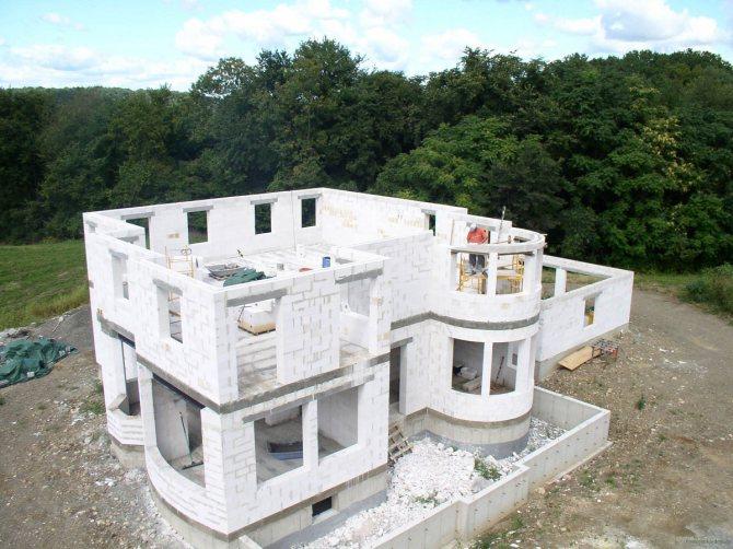 Красивый многоэтажный загородный дом из блока газосиликатного с немецкой линии Wehrhahn Верхан Старый Оскол 1 категории для кладки на клей