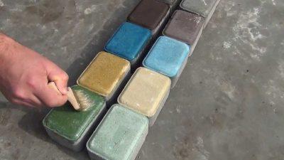 Краска для тротуарной плитки своими руками