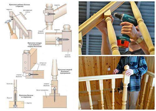 Крепление балясин и столбов лестницы: как поставить своими руками, видео как установить на тетиву